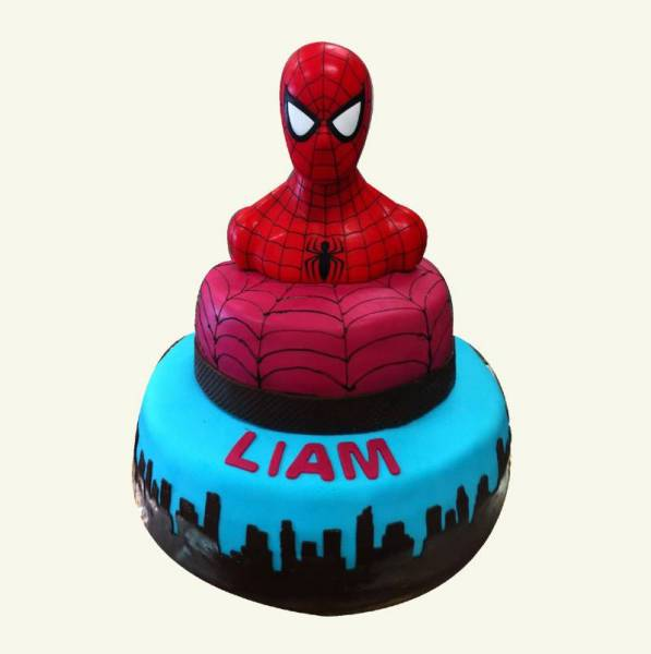 gateau americain theme spiderman